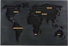 Decoración de pared portacorchos con mapamundi de