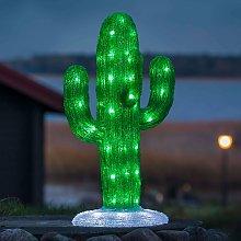 Decoración LED exterior acrílico Cactus