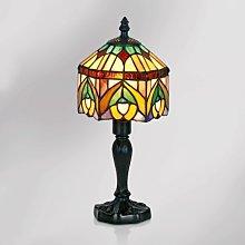 Decorativa lámpara de mesa Jamilia, estilo Tiffany