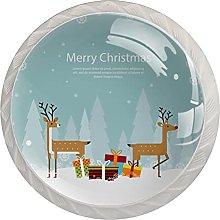 Deer Merry Christmas-01 (4 unidades) pomos para