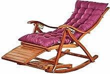 Deezu Tumbonas Jardin reclinable Nap Mecedora,