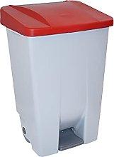 Denox DEN047 Contenedor Selectivo 80 litros, Rojo,