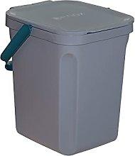 Denox DEN121 Cubo orgánico 10 litros, Gris,