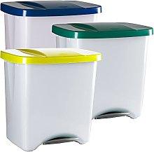 Denox PK3342 Pack Reciclaje Pedalbin Ecológico 50