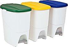 Denox Set de 3 Cubos de Reciclaje DENOX 3x25