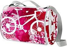 Desheze Manta de Playa Bicicleta Rosa Manta de