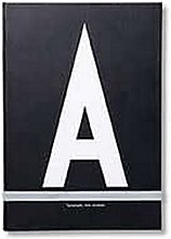 Design Letters Cuaderno personal (Negro) - A -