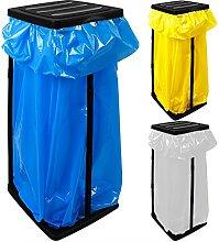 Deuba 3x Soportes para bolsas de basura con Tapa