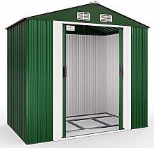 Deuba Cobertizo de Metal 4,2m³ Verde