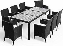 Deuba Conjunto de jardín Set de sillas y Mesa de