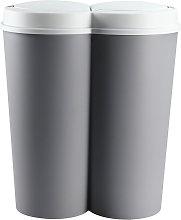 Deuba - Cubo de basura Doble 50L 2x25L cubo de