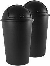 Deuba Cubo de basura Push Can de 50L con tapa