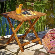 Deuba Mesa auxiliar de jardín madera de acacia