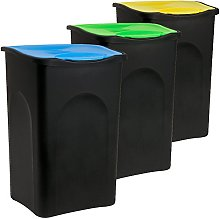 Deuba Stefanplast 3X Cubos de Basura con Tapa
