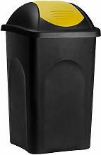 Deuba - Stefanplast Cubo de basura de 60L con tapa