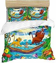 DFTY Juego de cama infantil Lion King, funda