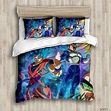 DFTY Juego de ropa de cama Dragon Ball Z (funda de
