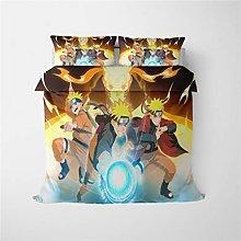 DFTY Naruto - Juego de ropa de cama con diseño de