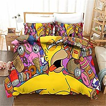 DFTY Simpson Juego de ropa de cama para niños,