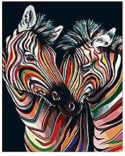 Diamond Painting Cebra De Colores Diamont Painting