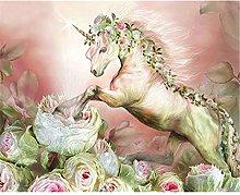 Diamond Painting Flor Unicornio Diamont Painting