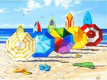 Diamond Painting kit Full Drill Sombrilla de playa