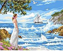 Diamond Painting Mujer Olas Diamont Painting 5D