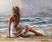 Diamond Painting Mujer Playa Diamont Painting 5D