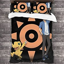Digimon Adventure - Juego de funda de edredón de