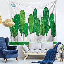 DINGQING Tapiz de Plantas Tropicales Decoración