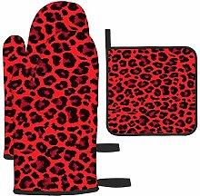 Diseño de patrón de piel de leopardo rojo con
