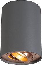 + Diseño Foco gris cobre giratorio e inclinable -