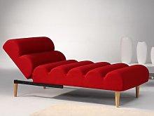Diván cama de tela CIVAL - Rojo