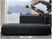 Diván cama ONEIROS - Tela - Bicolor gris