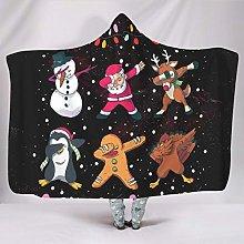 Divertida manta con capucha de Papá Noel, Elk,