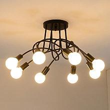 DIY 8 Luz Industrial estilo E27 Iluminación de