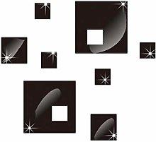 Diy Cuadrado Combinación Espejo Superficie