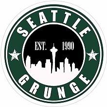 DKISEE 3 pegatinas de Seattle Grunge, Seattle para