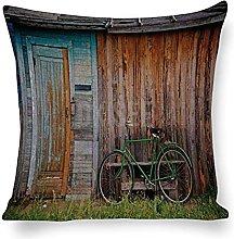 DKISEE Fundas de almohada decorativas de algodón