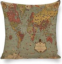 DKISEE Fundas de almohada decorativas de lino y