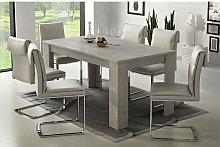 Dmora mesa de comedor elástica, cm 160 x 88 x 79,
