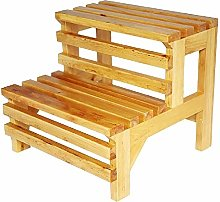 DNSJB - Taburete de escalera para zapatos, madera