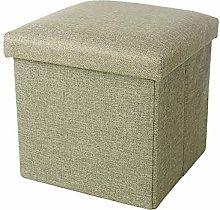 Doile - Taburete plegable de tela de algodón y