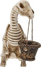 DOITOOL Esqueleto Perro Maceta de Halloween Maceta