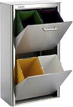 DON HIERRO, Cubo de basura y reciclaje CUBEK Inox