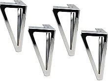 DONGYAO Patas de metal de 6.1 pulgadas, 4 patas de