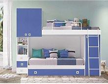 Dormitorio completo con dos literas y armario,