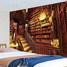 Dormitorio decoración Tapiz Biblioteca telón de