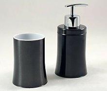 Dosificador de jabón y vaso moderno de acero
