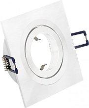 Downlight cuadrado 1 Foco Aluminio cepillado